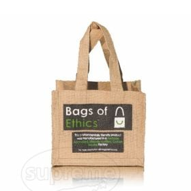 "Square Baby Jute/Hessian Bag 7.87""(w) x 7.87""(h) inches"