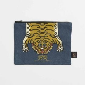 bespoke spacious large canvas flat makeup pouch - Wholesale from Direct Manufacturer