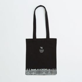 Branded Black 5oz Cotton Tote Bag with Long Handles - Direct from Manufacturer