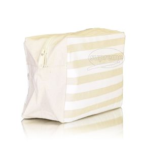 "Large Square canvas wash bag 8.27"" top (w) x 8.66"" bottom(w) x 9.84""(h) + 2.76""(g) inches"