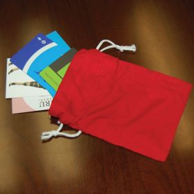"Cotton small Drawstring Bag 3.94""(W) x 5.51""(H) inches"