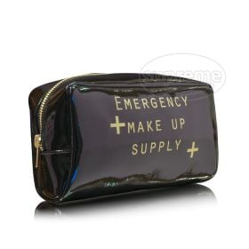 "High glamour glossy makeup bag 7.87""(w) x 4.33""(h) x 3.15""(d) inches"