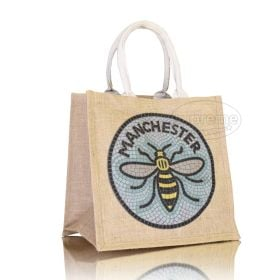 "Compact 'Box' Jute Bag 11.81""(w) x 11.81""(h) inches"