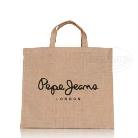 """Short Handled Exhibition Jute Bag 14.96""""(w) x 14.17""""(h) inches"""