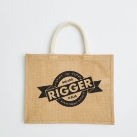 Custom Made Jute Bag with Comfi Web Handles direct from manufacturer