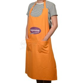 """Large Canvas Bib Apron With Pockets and scoop neck 27.56""""(W) x 37.40""""(H) inches"""