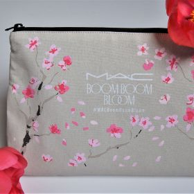 """Small Canvas mini cosmetic bag and travel pouch 7.87""""(w) x 5.91""""(h) x 1.97""""(d) inches"""