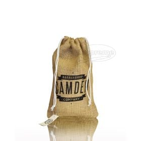 "Jute fabric drawstring bag (3.54"" x 5.12"" inches)"