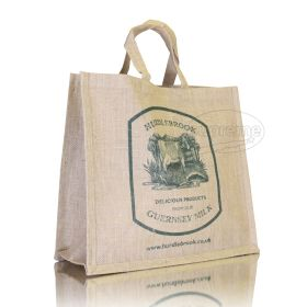 """Jute Shopper with Gusset 15.75""""(w) x 14.17""""(h) x 7.09""""(d) inches"""