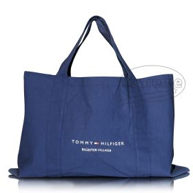 """Large canvas weekend tote bag with pocket and double handle 19.69""""(w) x 12.99""""(h) inches"""