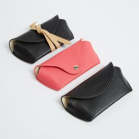 Personalised faux leather glasses case with press stud popper wholesale - Direct from Manufacturer