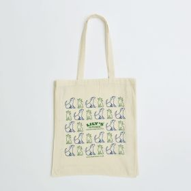 Bespoke Printed 11oz Natural Cotton Tote Bag with Long Handles and 10cm Gusset