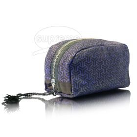 """Printed round day cosmetic bag 7.87""""(w) x 3.94""""(h) x 2.76"""" inches"""