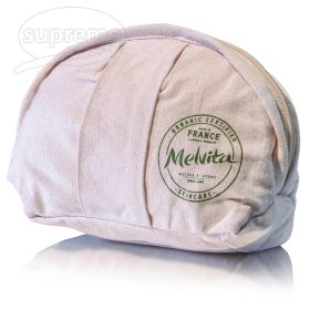 """Canvas make up bag oval or eclair shape 7.09""""(w) x 4.13""""(h) x 2.76""""(g) inches"""