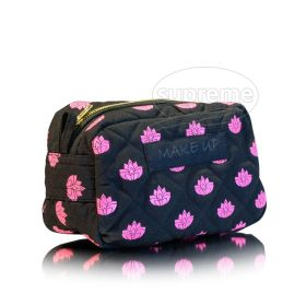"Quilted Cosmetic Bag 7.87""(w) x 5.91""(h) x 1.57""(g) inches"