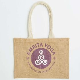 Rectangular Branded Jute Bag with Comfi Web Handle - Direct From Manufacturer