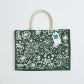 Rectangular Branded Jute Bag with Comfui Web Handles - Direct From Manufacturer