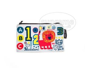 "Small rectangle zip up pencil case 7.87""(w) x 4.72""(h) inches"