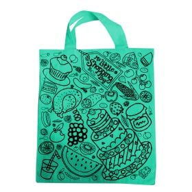 green printed personalized tote bags