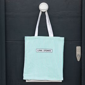 "Small canvas bag, long handle and gusset 11.02""(w)x12.99""(h) inches"