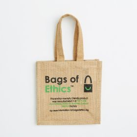 Mini Jute Bag with Jute Handles Printed with Your Logo - 1st Price