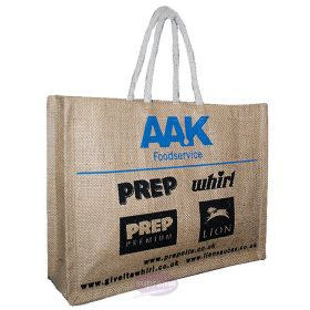 "Extra Large Jute Delegate Bag 18.50""(w) x 16.14""(h) inches"