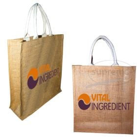 "Three Bottle Jute Bag 11.81""(w) x 13.39""(h) + 3.94"" inches"