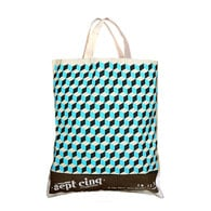 Cotton eco tote bag with short handles