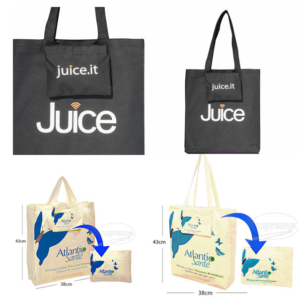 Foldable shopping totes bags
