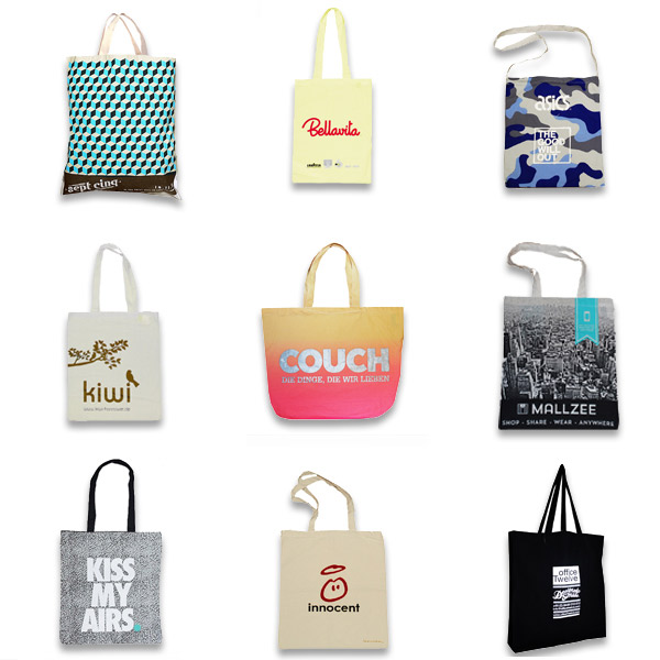 Organic custom printed cotton Bags
