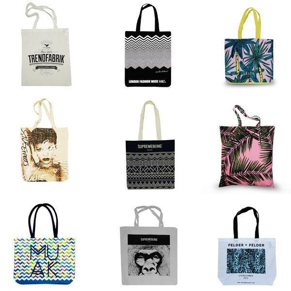 Wholesale printed tote shopping bags