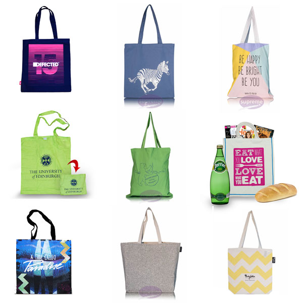 Custom printed fabric bags