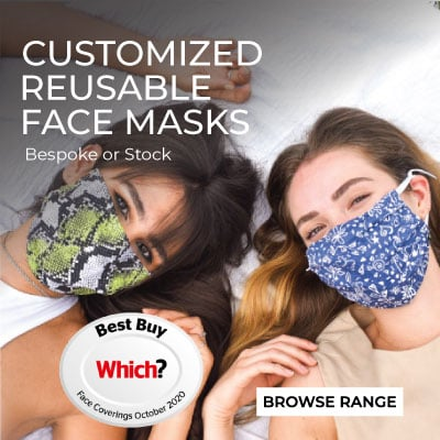 bespoke reusable face masks uk