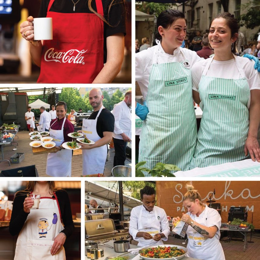 Any Shape, Any Size, Any Color personalized aprons