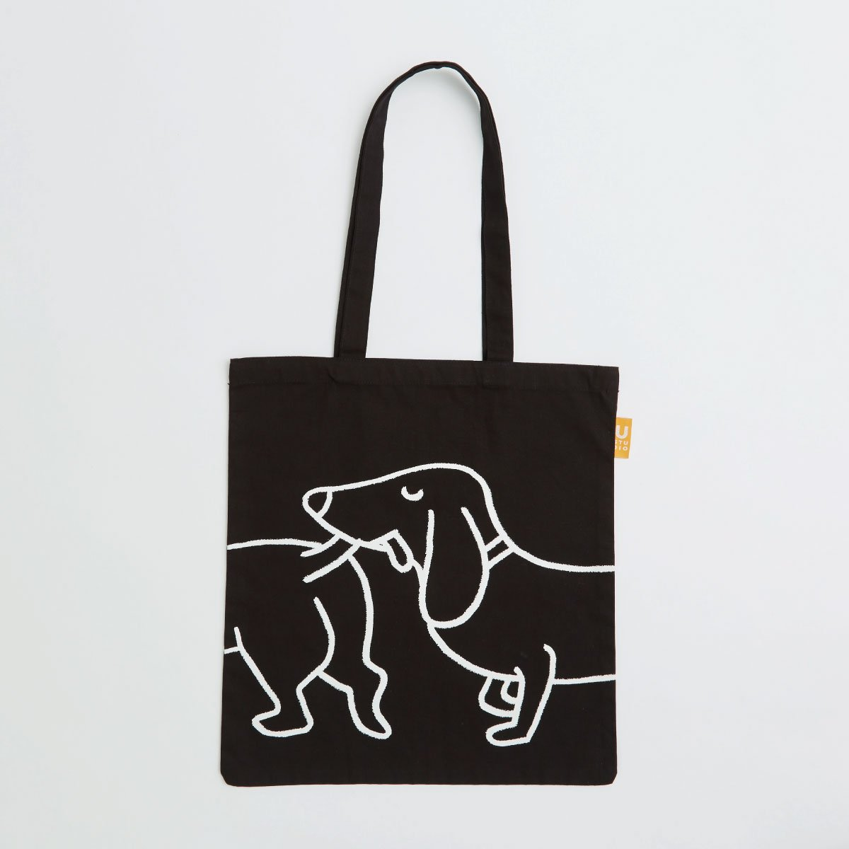 spacious cotton bag with long handles and gusset