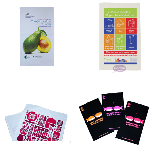 Printed tea towels uk